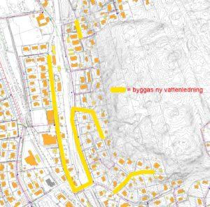 VA-karta Åsa Stationsväg med flera