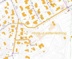 VA-Karta Stenviksvägen Badviksvägen med flera