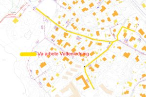 VA-karta Vitabergsvägen